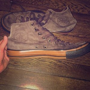 Converse brown suede leather